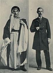 Author photo. Image from <i><a href=&quot;http://www.archive.org/details/venturesamongara00forduoft&quot;>Ventures Among the Arabs in Desert, Tent and Town</a></i> (1909) at the <a href=&quot;http://www.archive.org&quot;>Internet Archive</a>