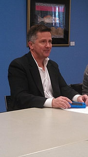 Author photo. Sean Faircloth on March 16, 2013 at a meeting of the Sarasota-Manatee Atheists and Secular Humanists.