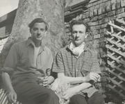 Author photo. Ironside on right. Rosalie Thorne McKenna Archive
