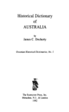 Historical dictionary of Australia by J. C.…