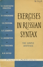 Exercises in Russian Syntax : The Simple…
