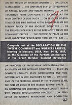 Complete Text of the Declaration of the…