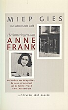 Herinneringen aan Anne Frank : het verhaal…
