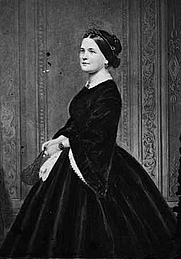 Author photo. Mary Todd Lincoln (1818-1882) (Brady-Handy Photographs, Library of Congress Prints and Photographs Division, Reproduction Number: LC-DIG-cwpbh-03451) (cropped)