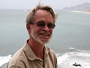 Author photo. Geoff Fox at home in Carboneras (Almería), Spain