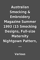 Australian Smocking & Embroidery Magazine…