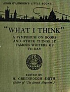 What I think: a symposium on books and other…