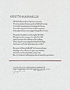 Ode To Harballs by Jeffrey Fischer
