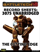 Record Sheets: 3075 Unabridged - The Cutting…