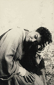 """Author photo. Portrait of Pearl Bailey, as Connecticut in """"Arms of the Girl"""", photograph by Carl Van Vechten, Mar. 12, 1950 (Library of Congress Prints and Photographs Division, Van Vechten Collection, Digital ID: van 5a51672)"""