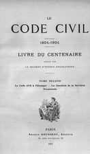 Le code civil 1804-1904 : livre de…