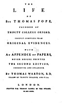 The life of Sir Thomas Pope, founder of…