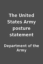 The United States Army posture statement by…