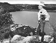 Author photo. Peter Hurd on the Navajo Indian Irrigation Project<br>Source: <a href=&quot;http://www.usbr.gov/museumproperty/art/biohurd.html&quot;>US Bureau of Reclamation Fine Art Collection</a>