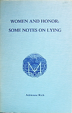 Women and Honor: Some Notes on Lying by…