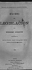 Exceso de legislación by Herbert Spencer