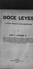 Doce leyes y otros trabajos parlamentarios…