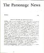 The Parsonage News (Volume 5, Number 12)…