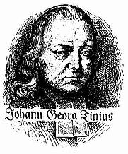 Author photo. Johann Georg Tinius