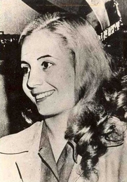 Author photo. Eva Peron, circa 1947 (Public domain ; Wikipedia)