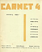 Carnet 4 - Avril 1931 by Carlo Suarès