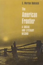 The American frontier; a social and literary…