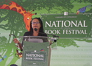 Author photo. Donna Britt speaking at the National Book Festival in Washington , DC (2012)