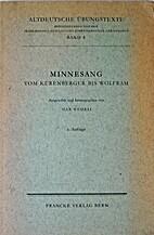 Minnesang vom Kürenberger bis Wolfram by…