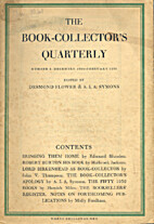 The book-collector's quarterly