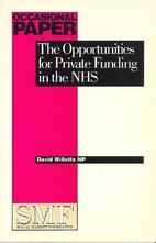Opportunities for Private Funding in the NHS…