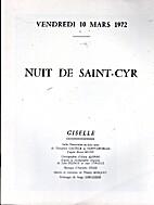 NUIT DE SAINT-CYR - GISELLE - Programme by…