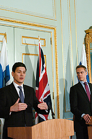 Author photo. David Miliband and Alexander Stubb (U.K. Foreign and Commonwealth Office)