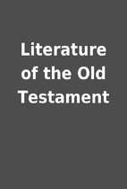 Literature of the Old Testament