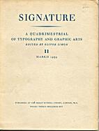 Signature; a quadrimestrial of typography…