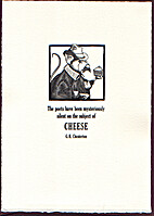 Chesterton Cheese (broadside) by G. K.…
