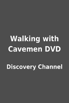 Walking with Cavemen DVD by Discovery…