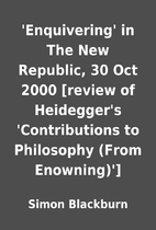 'Enquivering' in The New Republic, 30 Oct…