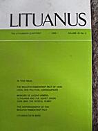 Lituanus 1989 Vol. 35, N°2