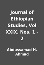 Journal of Ethiopian Studies, Vol XXIX, Nos.…