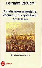 Civilisation, économie et…
