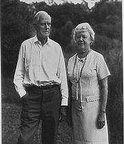 Author photo. Florence Page Jaques with her husband Francis Lee Jaques [credit: The Jaques Art Center]