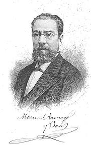 Author photo. Bartolomé Maura Montaner (1844-1926)
