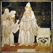 Author photo. Hermes Trismegistus in the marble pavement of the Dome of Sienna (Italy)