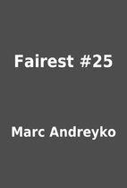 Fairest #25 by Marc Andreyko