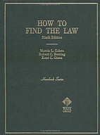 How to Find the Law by Morris L. Cohen