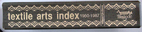 Textile Arts Index, 1950-1987 by Sadye Tune…