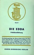Die Edda 1 Heldendichtung by Felix Genzmer