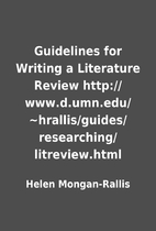 Guidelines for Writing a Literature Review…