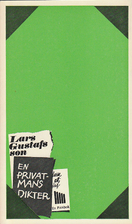 En privatmans dikter by Lars Gustafsson