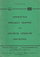 Operettas Specially Adapted for Amateur…